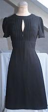 TOPSHOP Vintage Short Sleeve  Keyhole Open Back Tea Dress UK 8 EU 36 very 1940s