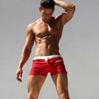 Men's Swimwear Surf Board Beach Swim Brief Trunks Shorts Swimsuits with Pockets