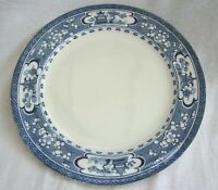 A VINTAGE BLUE & WHITE  MALING NEWCASTLE ORIENTAL CHINESE PATTERN DINNER PLATE
