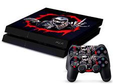 SONY PS4 PlayStation 4 SKIN Design Adesivo Pellicola Protettiva Set - Scheletro