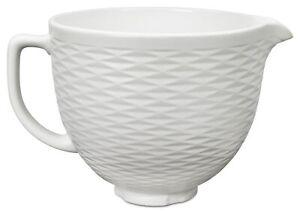 KitchenAid 5-Quart Textured Ceramic Bowl for Tilt-Head Mixers   White Chocolate