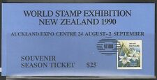 New Zealand World Stamp Exhibition 1990 Scarce Imperf Orchid MS MNH and Ticket