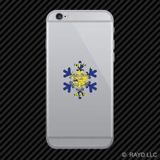 Oregon Snowflake Cell Phone Sticker Mobile OR snow flake snowboard skiing skii