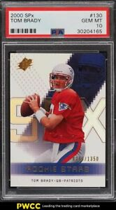 2000 SPx Football Tom Brady ROOKIE RC /1350 #130 PSA 10 GEM MINT