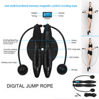 Portable Fitness Calories Wireless Digital Cordless Jump Rope Skipping LCD