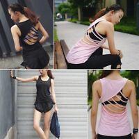 Sport Jersey Yoga T Shirt for Women Fitness Vest Tank Top Sleeveless Running Gym