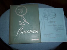 "1950 BRIDGETON HIGH SCHOOL YEARBOOK BRIDGETON NJ  'BACONIAN"" & 35TH REUNION ITEM"