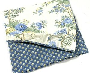 Waverly Window Valance Curtain Blue Forever Yours Print PeekABoo Gathered Floral