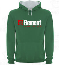 Sudadera Capucha Bicolor Tipo Element Skate for Life varias tallas y colores