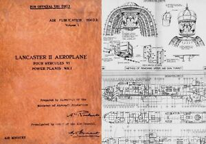 AVRO LANCASTER WW2 MAINTENANCE MANUAL RARE ARCHIVE 1940's PERIOD DETAIL HISTORIC