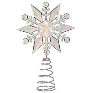 Christmas Luxury Acrylic Snowflake Christmas Tree Topper Ideal For Xmas Tree