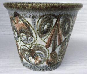 Vtg Debby Glyn Colledge Plant Pot / Vase - MCM Abstract Leaf & Shapes VGC