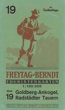 Beilage zu Freytag-Berndt Touristenkarten, Blatt 19 Goldberg-Ankogel, Radst. Tau