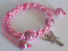 Regolabile rosa Arcangelo Gabriele nacred abstracts Perline Shamballa Ciondolo Bracele