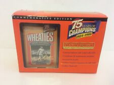 Wheaties Babe Ruth 75th Collectibles 24K Gold Signature Mini Box 1999