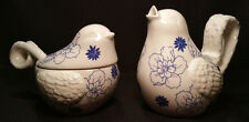 Grasslands Road  American Bloom Ceramic Songbird Sugar & Creamer