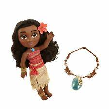 New Disney Moana Adventure Doll With Magical Seashell Necklace 12B
