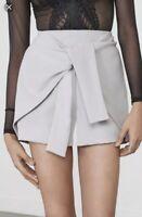 Lavish Alice Women's Hakama Dove Gray Mini Dress Shorts NWT RET $89