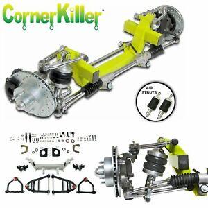 "34 Oldsmobile Car CornerKiller IFS Coil Over 2"" Drop 5x5.5 Power LHD rack"
