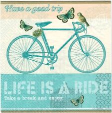 20x Lunch Paper decoupage napkins. It's the journey, bike, life is a ride- 547P