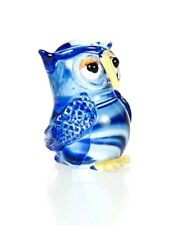 Owl Blue Glass Blowing Art Animal Fancy Decorative Souvenir Gorgeous Chic Nifty