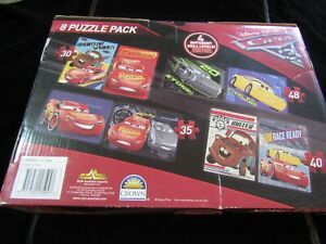 Disney 8 Puzzle Pack Cars Jigsaw 4 Different Skill Levels