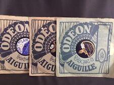 trois disques Odéon à aiguilles années 1930/ 1930s 3 gramophone Odeon records