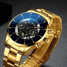 Retro Men Watch Business Stainless Steel Date Sport Analog Quartz Wrist Watch