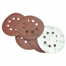 "5"" 8 Hole 120 Grit Sand Disc Paper Random Orbit Hook and Loop For Dewalt 5pc"
