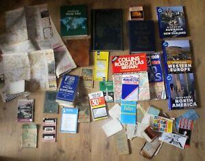 Large Bundle Job Lot of Atlas Survey Road Maps United Kingdom World Collection