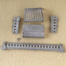 1:12 Scale FIREPLACE KIT/Fire Place by Phoenix Grate/Front/Fenders White Metal
