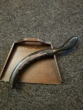 Beautiful Antique Vintage Wooden  Crumb Tray and Brush
