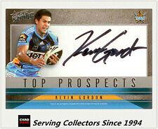2011 Select NRL Strike Top Prospect Signature Card TP5 Kevin Gordon (Titans)