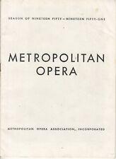 Metropolitan Opera Program 1951 Advertising - Chesterfield cigarettes - Treptow