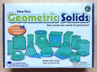 View-Thru Geometric Solids, set of 14,  Learning Resources X4330