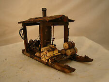Logging Steam Donkey on a Sled - custom weathered,  handcrafted - lot 7 -G scale