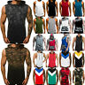 Mens Sleeveless Hooded Sports Fitness Muscle Vest T Shirt Tops Hoodie Waistcoat