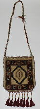 "Ladies 100% Hand Knotted Antique Style Carpet Crossbody Handbags 12"" Depth X12""W"
