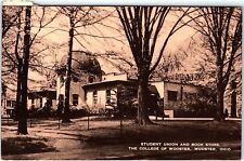 Postcard OH Wooster Student Union And Book Store College Of Wooster K125