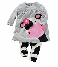 Unbranded Girls' Animal Print Outfits & Sets (0-24 Months)