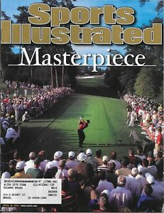 Sports Illustrated TIGER WOODS 2001 MASTERPIECE PMS - Personal Mail Label MINT