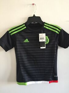 Adidas Mexico Home Black Green Jersey Copa America 2016 Size YS Boy's Only