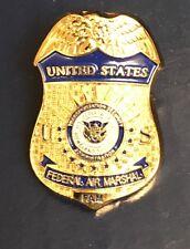 US Federal Air Marshal FAMS Police Mini Badge Lapel Pin