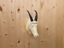 REPLICA MOUNTAIN GOAT HORNS  MOUNT ANTLERS HORNS CABIN MOUNT SKULL TAXIDERMY
