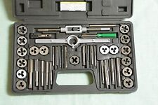 40 Piece Carbon Steel SAE Tap and Die Set new  #39391