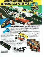 Publicité Advertising 107  1979  Meccano jeux jouets  le circuits S