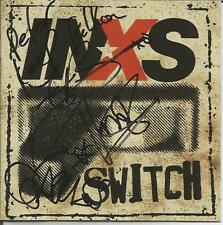INXS  Switch CD Signed Autographed by 3 Members 2005 Epic  J D Fortune RARE