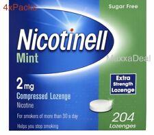 4x Nicotinell Nicotine Lozenge Stop Smoking Aid 2 Mg Mint Sugar Free 204 pcs