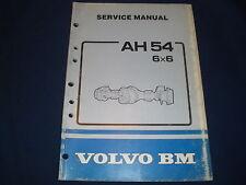 VOLVO AH 54 6X6 DRIVE AXLE SERVICE SHOP REPAIR BOOK MANUAL