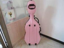 Strong pink color fiberglass hard case cello 3/4,perfect workmanship #beijing MA